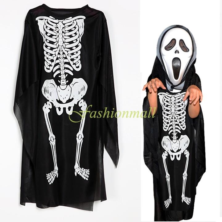 2014 hot halloween costumes for kids carnival parte Prom skull skeleton ghost devil dress costume for boys gift Sv18 Sv009930(China (Mainland))
