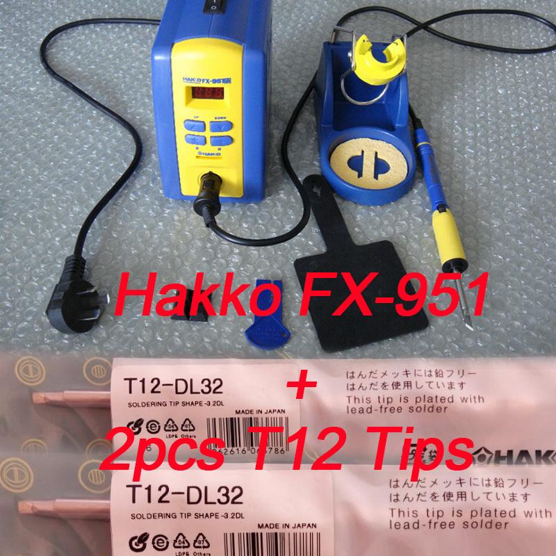Электрический паяльник HAKKO 110 /220 , fx/951 fx/951 2pcs T12 FX-951 dangdangdh 951