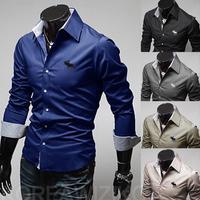 Men Shirt Autumn Male Striped Long-Sleeve Casual Men Shirt Camisa Masculina Mens Dress Shirt Camisa Social  C32