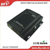 DTY  VR8808N h 264 real time full d1 8 channel mobile car dvr recorder