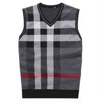 V-neck Sweater vest Man Pullovers Stylish Cashmere Vests Free shipping