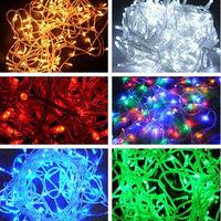 10M 100 LED Bulbs Christmas Tree Fairy Party String Lights Waterproof Xmas Decor 220V OR 110V