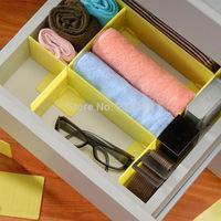 3Pcs/Lot New 2014 multi-purpose Plastic free combination Storage drawer divider plate plastic box case for underwear ,sundries