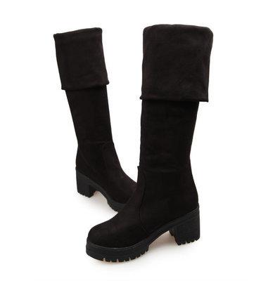 Женские сапоги дамы новые сексуальные гольфы сапоги высокий каблук зимой осенью обувь скольжения досуг складывания женщин обувь zy154