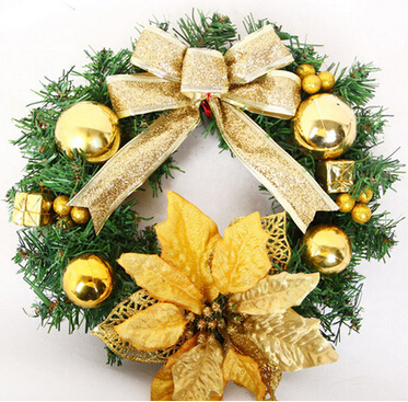 Explosion models 2014 New Christmas wreath door hanging small Christmas ornaments Christmas holiday decorations 9.26-12(China (Mainland))