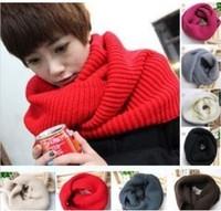 Fashion Style Unisex Winter Knitting Collar Neck Warmer Woman Ring Scarf Shawl New Hot Sale W4285