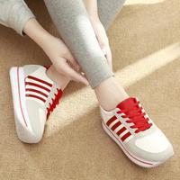 2014 new winter women shoes spell color ah sweet muffin N Korean word sneakers