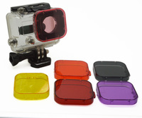 Go Pro HD Hero 3 PC Under Sea Go pro Filter Cover Fit for Gopro HD Hero3 only Camera Filters Drop Shipping