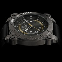 2014 Military Royale Men's Black Analog Dial Army Time Date Grey Leather Luminous Sport Watch MR083