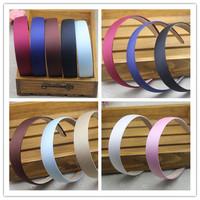 Wide  Plastic  Headband Hair Band  Accessory  Headwear Satin  2.8CM