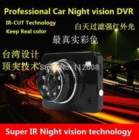 Free shipping Car DVR with IR night vision 1080P HD dvr 150degree angle vision
