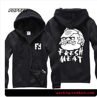 2014 new fleece zip hoodie thick winter sweater Men Women turret two butchers fat Pudge hoodies fleece man hoody cotton hoodie