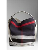 2014 new arrival famous brand genuine leather single shoulder bag fashion striped  Bucket handbag women's shoulder bag