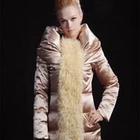 Blessedly medium-long berber fleece fashion slim gold down coat female