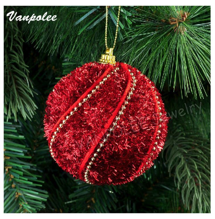Christmas tree decoration accessories 8 cm foam christmas golden ball