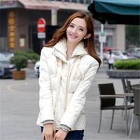 Women's Winter loose thick down jacket women short Parkas Womens Jackets Duck Down Winter Coat  PA-805