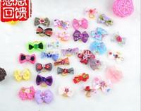 Free shippping Lovable pet/dog head bowtie ornaments hair bowtie elastic belt mixed designs 30pcs/lot