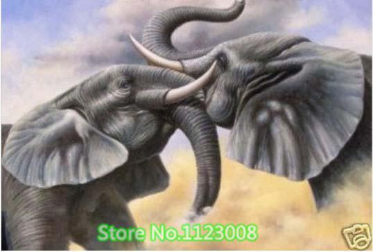 Африканский слон diy алмаз