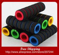 Wholesale Bike Racing Bicycles Motorcycle Handle Bar Foam Handlebar Sponge Grips Cover Soft Nonslip 4 Colors  10pairs/lot