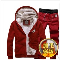 HOT SALE 2014  Winter new cashmere sweater tide male taxi men thick warm winter clothes men's  sports clothes set Coats Jackets