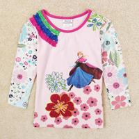 Children T shirts for Girls Frozen Princess Anna NOVA Brand Kids Sweatshirt Long Sleeve Clothing Baby Outerwear Tops Tees marmot