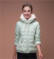 2014 New Arrive Women's Winter Outerwear Slim Hooded Down Jacket Woman Warm Down Coat Women Light White Duck Down HJS144001