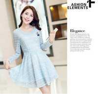 Dropshipping!2014 autumn dress Elegant charming Lace dress plus size women dress
