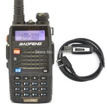 BAOFENG UV-5RC Two Way Radio Walkie Talkie VHF/UHF  Dual Band portable CB&Ham&FM  Radio Handheld Tranceiver+Usb Program cable