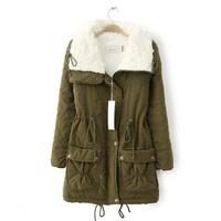 2014 new  fashion winter long section cotton  coat clothes women