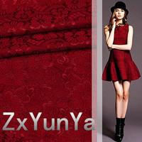 2014 new composite lace red stretch lace dress suit fabrics apparel fabrics
