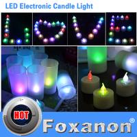 Foxanon Brand RGB Led Candle 7 Colors night light Wind Sensor Switch nightlight Lamps Magic Blow On / Blow Off Heatless Lighting