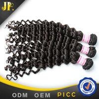 JP Hair high reputation alibaba gold suppliers 7A human hair deep curl hair weaving brasilian hair