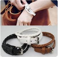 Min Order $8.8(Mix Order) Korean Fashion Simple Leather Bracelet Woven Multi-layer Fashion Women Lady Bracelet FB0218