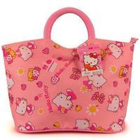 Pink Color Hello Kitty Casual  Handbag With Zipper Mummy Bag Shopping Bag Cosmetic Bag Free Shipping