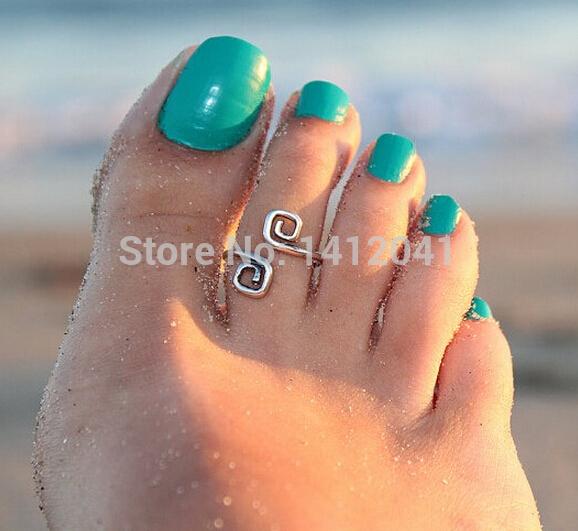 FD769 Fashion Fine New Charm Lady Antique Metal Toe Ring Foot Hawaiian Beach Party Jewelry