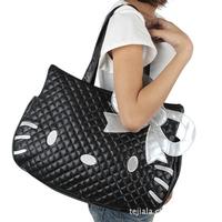 New Arrival PU Leather Waterproof Multi-purpose Hello Kitty Large Handbag Shoulder Bag Free Shipping