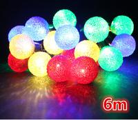 free shipping 6M 20 LED Colored lights / Christmas tree decorative light string lights / holiday decoration lights 0.5Kg DIY