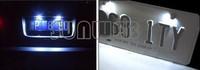 wholesales&retail 2014 2Pcs 12V White Waterproof Bolt-On LED License Plate Lights For Car Motorcycle Bike Black b24 10725