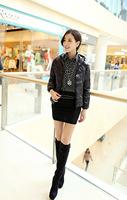 2014 Women's Slim Parkas Short down jacket women's winter coat Jackets plus size S-XXXL  PA-809