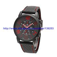 2014 GT Watch Men Sports Watch Luxury Brand Silicone Strap Fashion Quartz Movement Hot Men's Watches 100pcs/lot 7 Colors