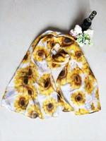 Winter American and Europe hottest women fashion long flower scarf warm soft sunflower scarf shawl cape