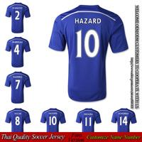 SCHURRLE shirt OSCAR soccer FABREGAS football HAZARD jersey 2014 2015 home blue ivanovic thai quality free shipping