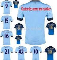14/15 KUN AGUERO TOURE YAYA Manchester home away soccer jersey LAMPARD SILVA best thai quality football uniform