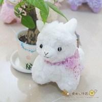 Free shipping 1pcs 17cm arpakasso amuse plush toys doll Cute White Arpakasso Alpaca plush toys Christmas gifts