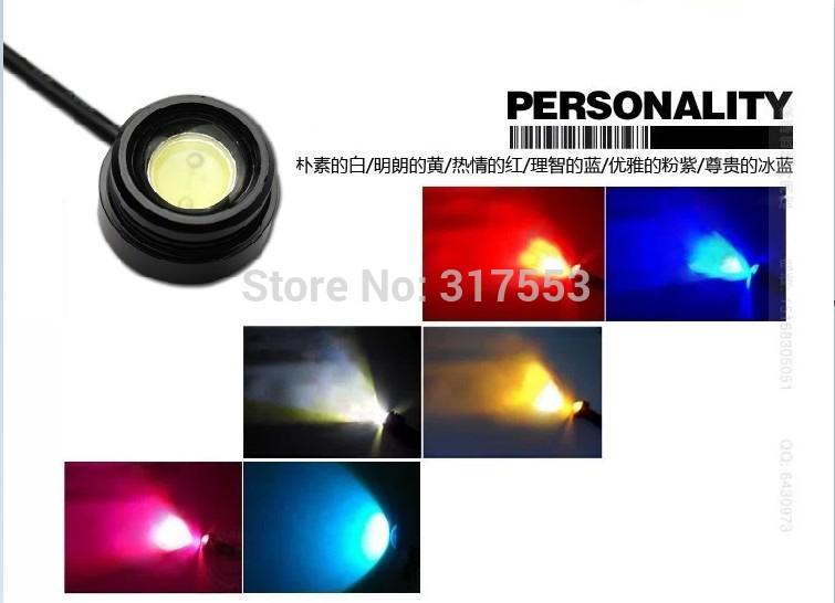 50 x 3W LED Eagle Eye Reverse Backup DRL Fog Driving Lamp Car Motorcycle Super Bright Daytime Running Signal Light No Drill(China (Mainland))