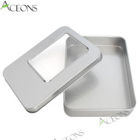 Wholesale lots Retail Packaging Metal Tin Container Empty Gift Package Boxes Sticker Label Optional Free Shipping 115*85*25 MM