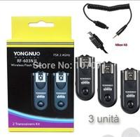 Shutter Release X3 YONGNUO RF-603II N3 TRIGGER REMOTE FLASH CAMERA for NIKON P7800 P7700 D3000