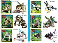 Bozhi 2pcs/lot Anime Auto Chima Figure Building Blocks Sets Model bricks Boys Toys Compatible with lego98053 toys for children