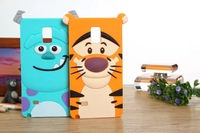 phone case 3D cartoon tiger Monsters Inc. Sulley Marie Alice Cat silicone rubber cases covers for Samsung galaxy note4