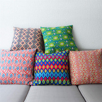Wholesale Custom Color Geometric Pillow Home Decor Sofa Cushion Pillow Cover Free Shipping